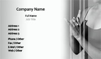 White and Grey Yoga Business Card Template